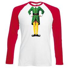 Elfo Corpo Baseball T-Shirt-Natale UMORISMO DIVERTENTE Buddy regalo Festivo Top Da Uomo