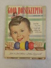 Vintage GOOD HOUSEKEEPING Magazine August 1949  Alex Ross