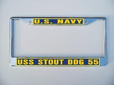 Uss Stout Ddg 55 License Plate Frame U S Navy Usn Military