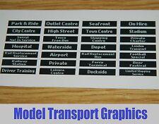 Digital Destination Displays Bus Blinds Self Adhesive 1/76 Corgi & UKBUS models
