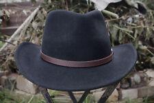 OUTBACK flexfelt Bush Cappello Da Olney cappucci -- 100% lana, Nero, S / M / L / XL