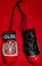 """Bulk Of 6 Polish Polska Poland boxing gloves mini Olympics mirror hanging 2""""x3"""""""