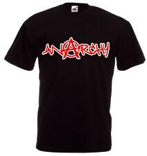 ANARCHY Graffiti Red Print  T-Shirt, schwarz