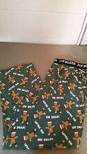 new mens joe boxer Christmas Holiday oh snap sleep lounge pants
