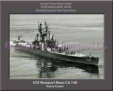 USS Newport News CA 148 Personalized Canvas Ship Photo 2 Print Navy Veteran Gift