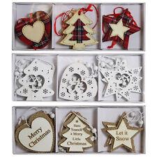 Árbol de Navidad Decoración-de Madera Corazón/estrella/Árbol-Elegir Diseño