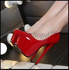 Sexy Womens Platform 16CM High Heel Pumps Round Toe Nightclub Party Shoes 3.5-10