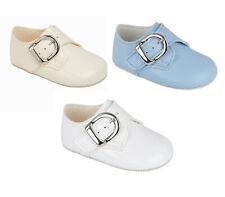 Baby Boys pram shoes Pre walker Christening/Party Sky, White, Ivory 0-18mth