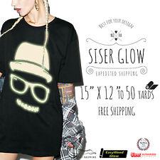 """Siser Easyweed Glow in the Dark Heat Transfer Vinyl 15"""" x12"""", 1,3,5,10,25& 50 YD"""
