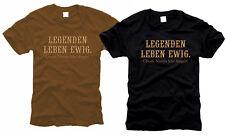 Legende vita per sempre-Chuck Norris vive più a lungo! - T-shirt-Tg. S fino XXL
