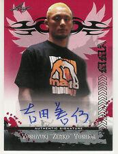 2010 LEAF MMA UFC YOSHIYUKI ZENO YOSHIDA RED AUTO AUYY1