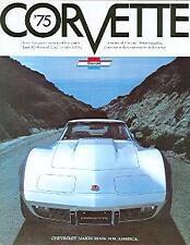 1975 75 CORVETTE STINGRAY  SALES BROCHURE