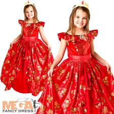 Elena of Avalor Girls Disney Princess Ballgown Fancy Dress Childs Kids Costume