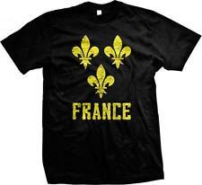 Yellow France Fleur De Lis- French Pride Nationality  Ethnic Mens T-shirt