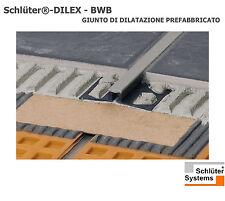 SCHLUTER DILEX BWB 100 PVC GRIGIO 1CM GIUNTO DILATAZIONE PREFABBRICATO COPERTURA