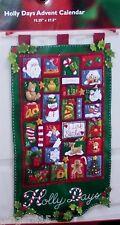 Bucilla HOLLY DAYS Felt Christmas Advent Calendar Kit-VERY RARE Santa Toys MIP