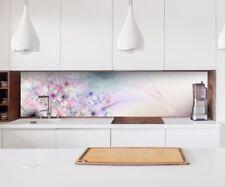 Aufkleber Küchenrückwand 3D Effekt Blume rosa abstrakt Folie Spritzschutz 22A172