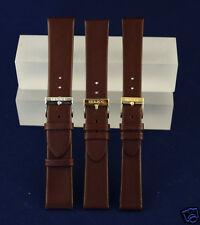 Uhrenarmband echtes Leder ErsatzbaUhrenband Kalbleder Herzog braun 16 18 20