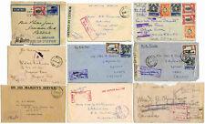WW2 BRITISH EAST AFRICA MILITARY APO ..KUT ERTIREA ETHIOPIA CENSORED AIRMAIL etc