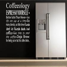 Café coffeeology cocina adhesivo pared Pegatina Adhesiva Mural FRASE