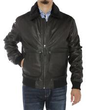 Luciano Natazzi Mens Nappa Leather Flight Bomber Jacket