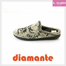 PANTOFOLE UOMO MARCA DIAMANTE COLORE NERO / BEIGE COMODISSIME