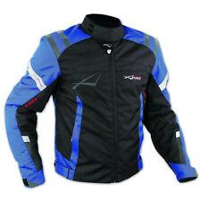 Sport Touring Moto tela Cordura Chaqueta protectores CE extraíbles Azul