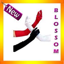 7001 Black Red White Lingerie Opera Costume Long Gloves