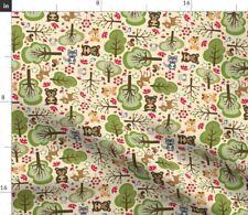 Baby Forest Animal Cute Woodland Nursery Decor Fabric Printed by Spoonflower BTY