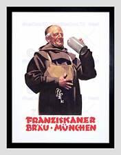 Ad FRANZISKANER Birra Monaco di Baviera Germania Monaco BEVO alcolici incorniciato stampa b12x4172