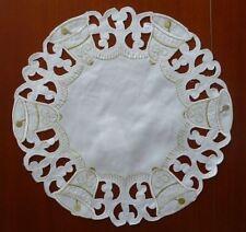WEIHNACHTEN Tischdeckchen Deckchen GLOCKEN Weihnachtsdeckchen 30cm rund NEU**