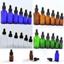 5-100ml Glass Reagent Eye Dropper Drop Aromatherapy Liquid Oils Bottle 4 Colors