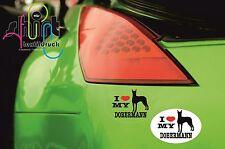DA 255 -  I love my Dobermann Hund Dog Aufkleber Autoaufkleber KFZ Sticker