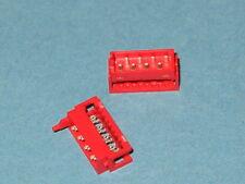 8 Way Amp Pcb Plug (macho) Conector micromatch Serie Qty = 5