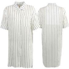 Womens Shirt Dress Tunic Summer Casual Button Down One Size Festival