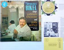 THEODORE BIKEL Sings YIDDISH Theatre and Folk songs LP w.booklet Near-Mint vinyl