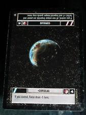 CCG STAR WARS PREMIUM RARE CARD CORULAG DECIPHER PROMO LIGHT PLAY > EX-