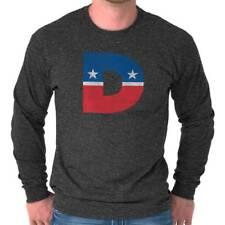 Democrat Liberal American USA Flag Patriotic Left Wing Long Sleeved Tees T