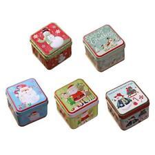Christmas Santa Claus Snowman Candy Cans Iron Storage Box Children Gift  WF