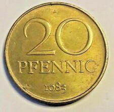 20 Pfennig MATT 1969 <<==>> 1985 DDR Allemagne EST *** KM# 11, Schön# 11