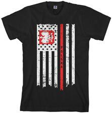 Polish American Flag Men's T-Shirt Half Poland Polska US