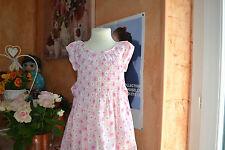 ROBE cyrillus 3 ans avec ceinture rose  avec fleurs  haut smoke