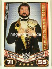 """Slam Attax rebelión - #142 """"the millón de dólares Man"""" Ted DiBiase-showman"""