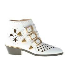 CHLOE' scarpe donna shoes Stivaletto Susanna in nappa bianco borchie CH3055418U