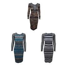 New Bodycon Womens Ladies Long Net Animal Print Celeb Maxi Midi Dress Size 8-14