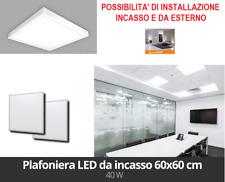 LAMPADA PANNELLO LED 60x60 48W PLAFONIERA AD INCASSO LUCE 4000K ESTERNO E INCASS