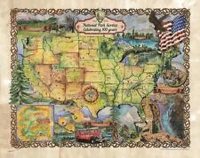 169 National Park Service Centennial Vintage historic antique map poster print