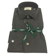 BORRIELLO NAPOLI camisa de hombre marrón oscuro art 4046/6 cuello HIDRO