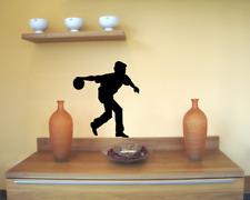 Wandtattoo Bowlingspieler Curve Wandsticker 25 Farben 5 Größen Wandaufkleber