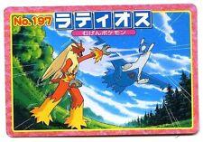 POKEMON JAPANESE CARD BORDS ROSES POCKET MONSTERS No.197 LATIOS + BLAZIKEN